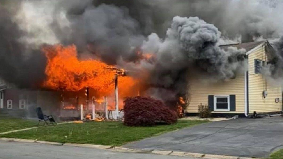 Mujer incendió su casa con una inquilina dentro del lugar