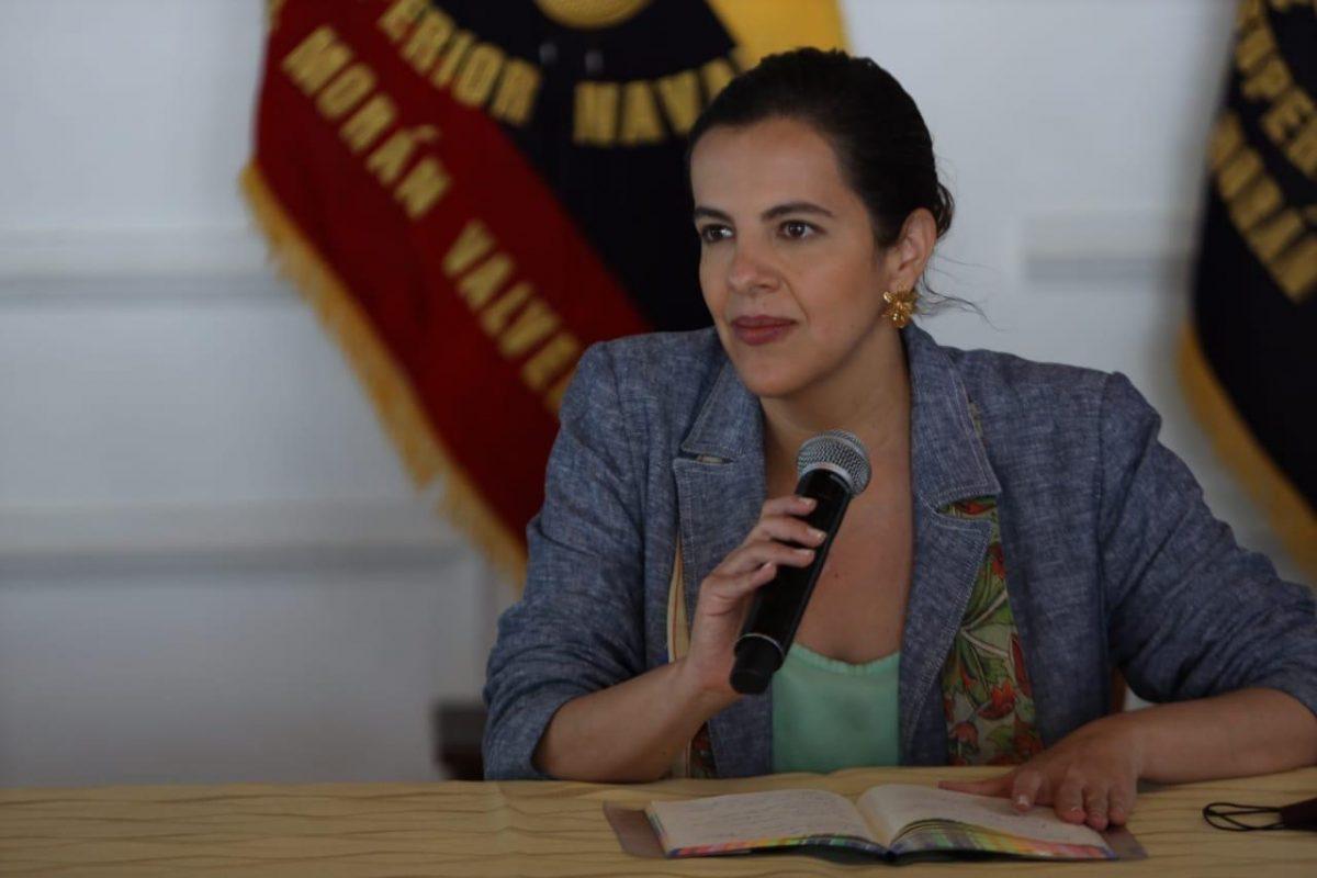 El Gobierno Nacional mostró su total respaldo a la ministra de Gobierno, María Paula Romo