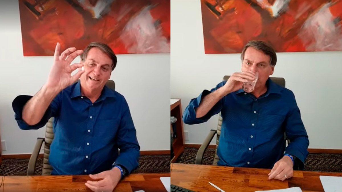 Presidente de Brasil, Jair Bolsonaro publicó un video tomando hidroxicloroquina tras confirmar positivo por covid-19