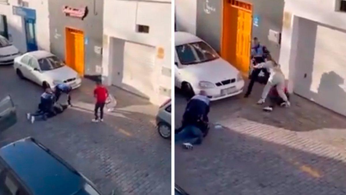 VIDEO | Policías agredieron a una pareja que grababan la detención a una persona