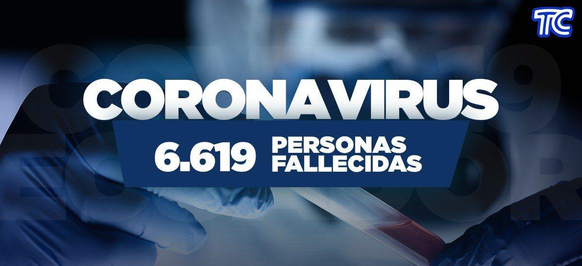 ATENCIÓN | Se registran 6.619 fallecidos por coronavirus en Ecuador
