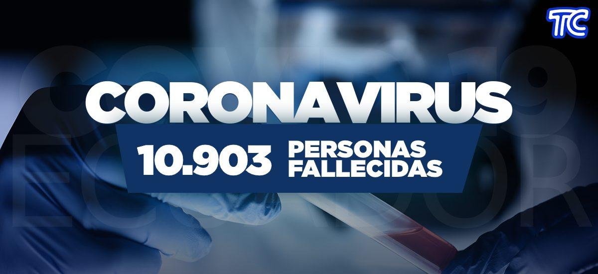 ATENCIÓN | Se registran 10.903 fallecidos por coronavirus en Ecuador