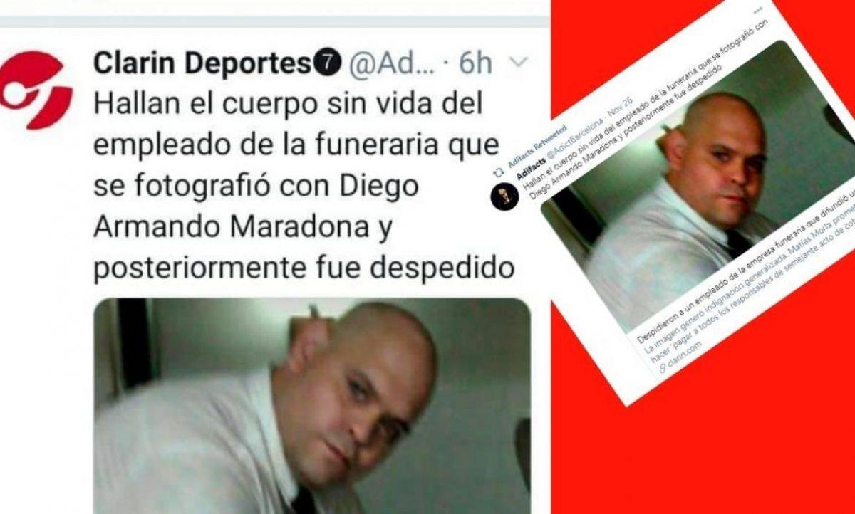 ¿Asesinaron a extrabajador de funeraria que se tomó foto con cadáver de Maradona?