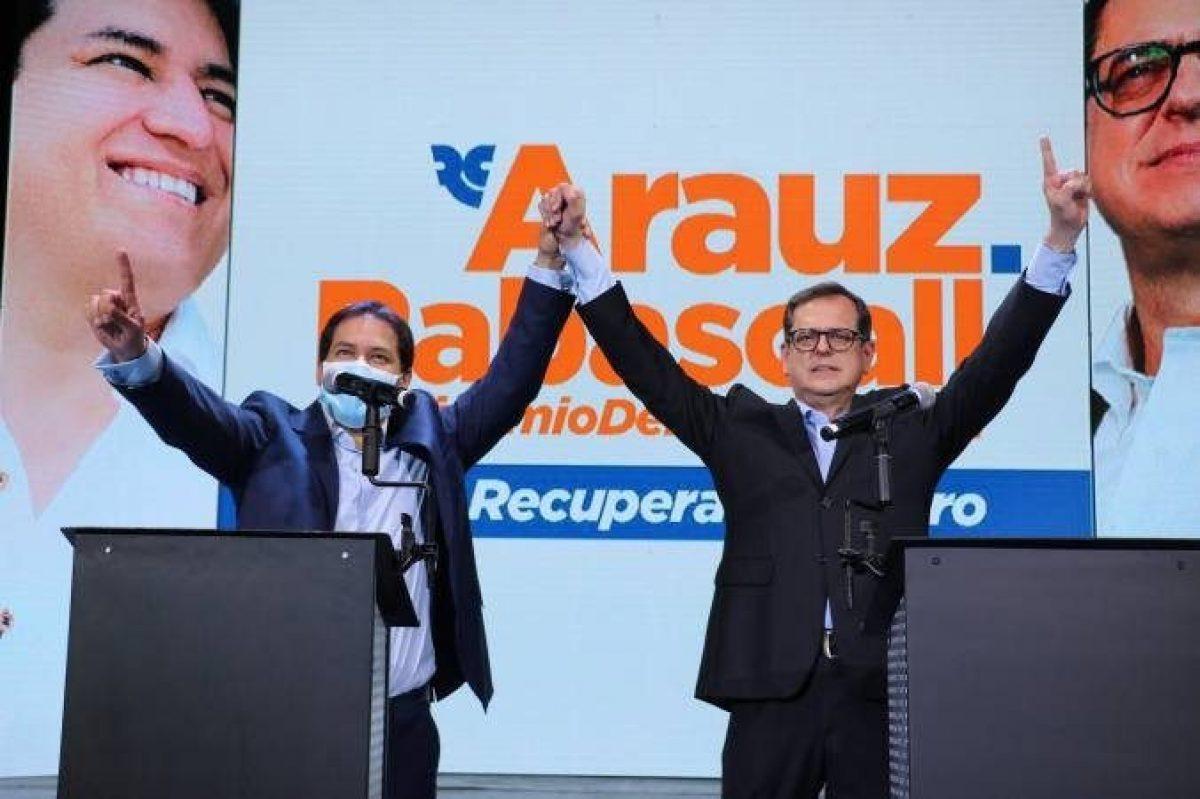 Andrés Arauz y Carlos Rabascall, aprobados como binomio electoral para las elecciones 2021