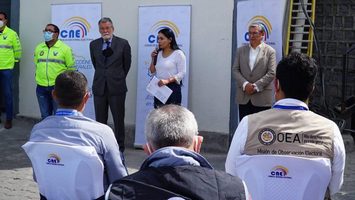 VIDEO |Autoriades del CNE supervisaron el resguardo de material electoral con error de impresión