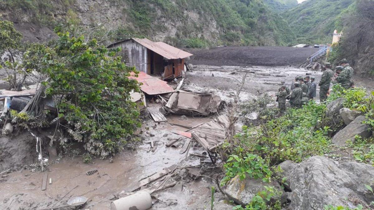 VIDEO  Sorprendente deslizamiento de tierra en Chimborazo