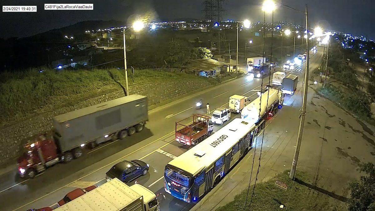 ATENCIÓN| Vía Daule se encuentra cerrada a la circulación vehicular
