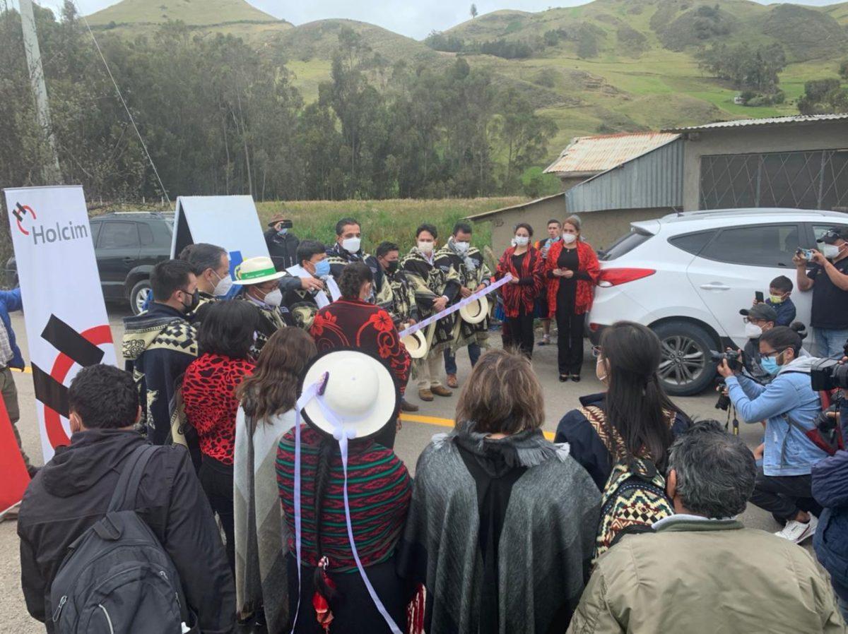 Cañar: la vía San Pedro-Curiquingue que fue estabilizada con una solución ecoamigable