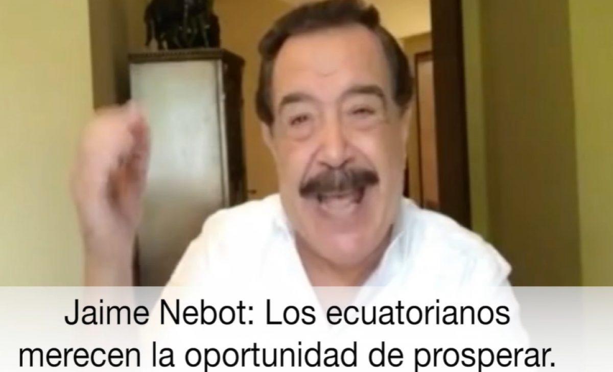 """Jaime Nebot pide una """"oportunidad"""" para el candidato Guillermo Lasso"""