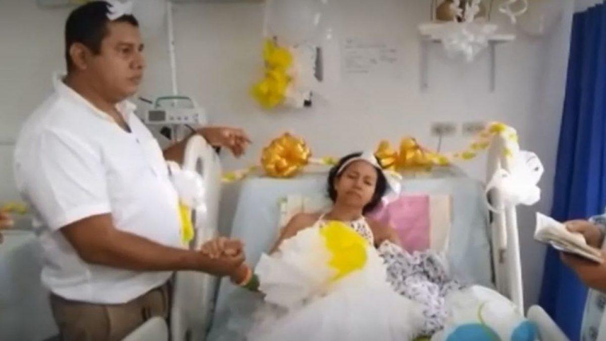 Mujer con cáncer terminal se casa en hospital