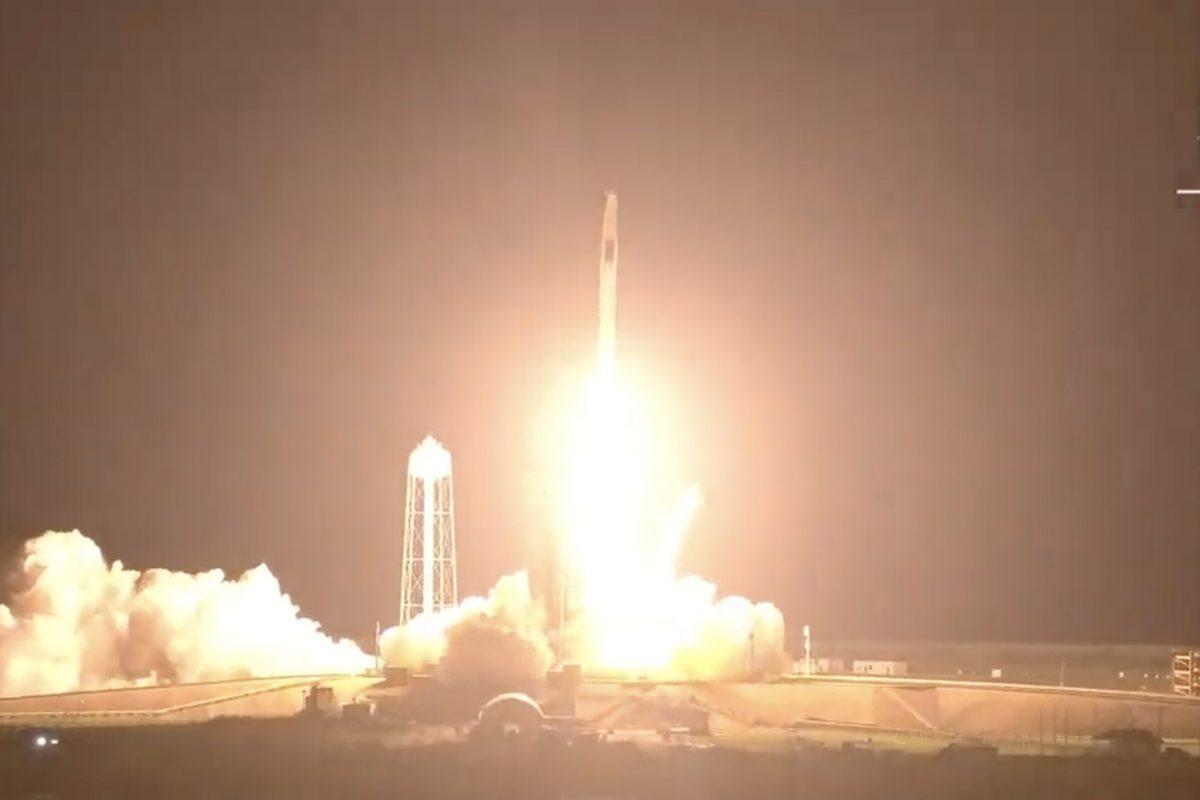 Despega la tercera misión tripulada de SpaceX