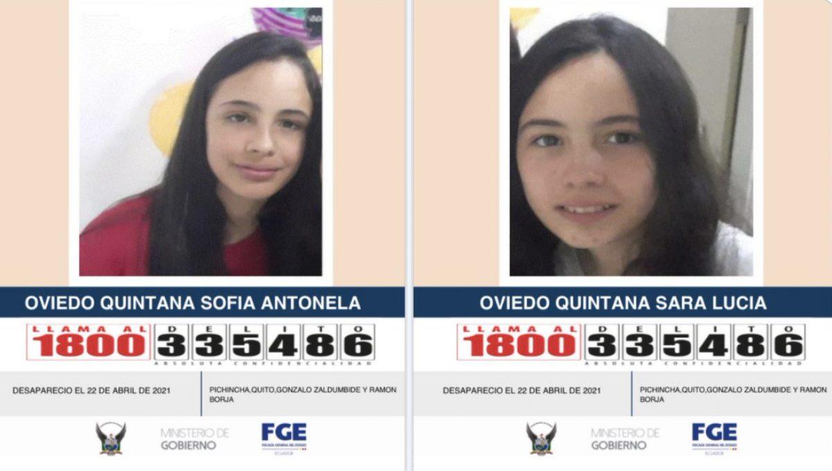Intensifican búsqueda de dos adolescentes que desaparecieron en Quito