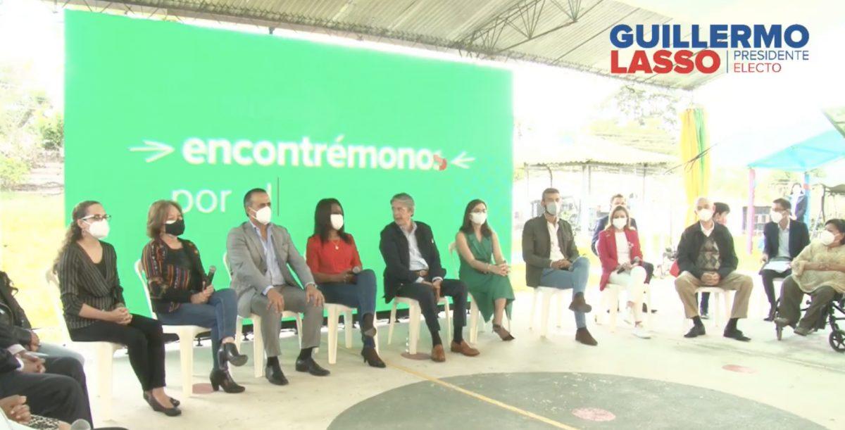 Guillermo Lasso presentó a las personas que formarán parte de su Gabinete Social