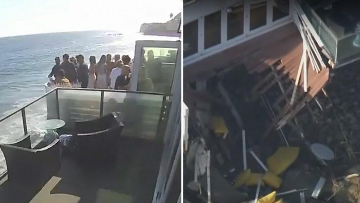 Un balcón se desplomó por exceso de personas, dos se encuentran graves