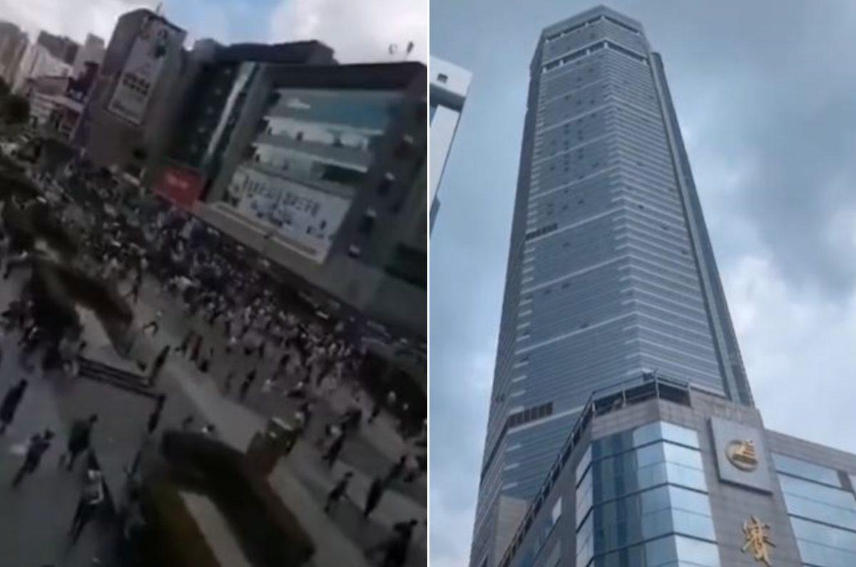 Pánico por uno de los rascacielos más altos de China que tambalea sin motivo