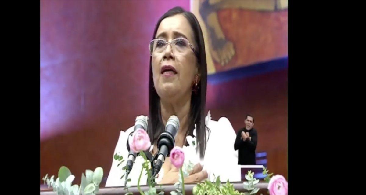 Minuto a minuto del discurso de Guadalupe Llori en el cambio de mando presidencial