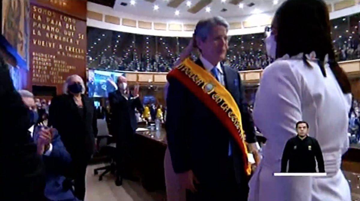 Así fue la investidura de Guillermo Lasso como Presidente de la República
