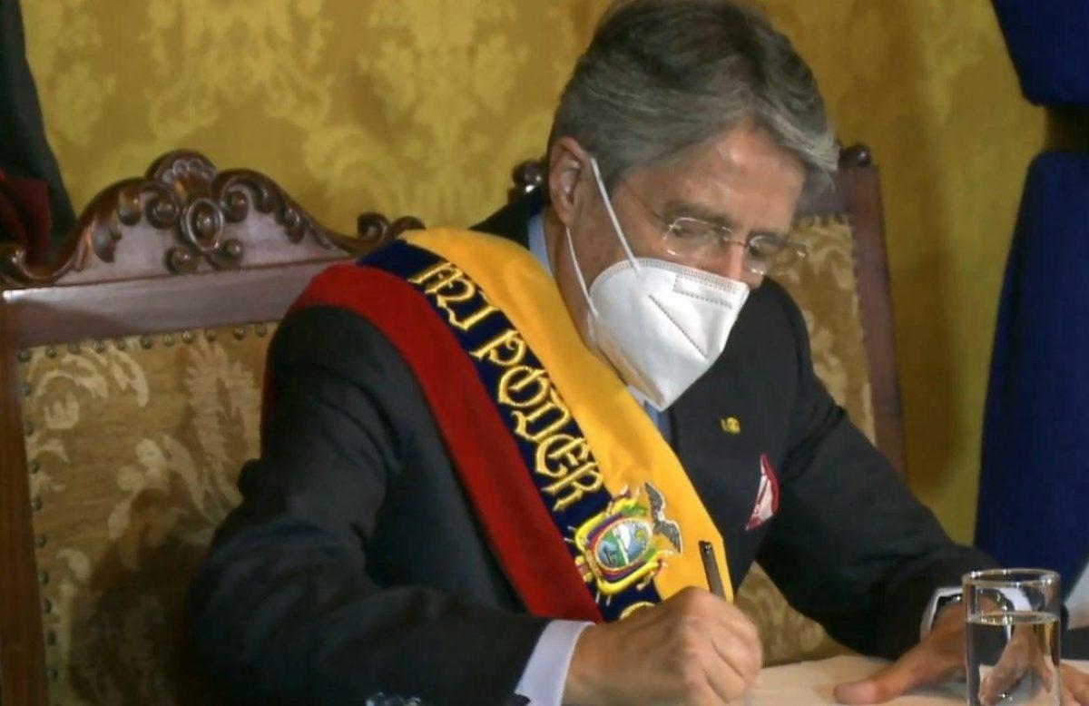 Presidente Lasso firmó primeros decretos de su Gobierno