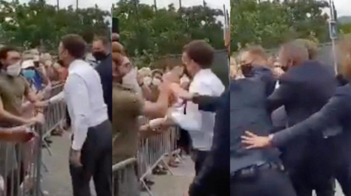 Presidente de Francia recibió una cachetada por un ciudadano