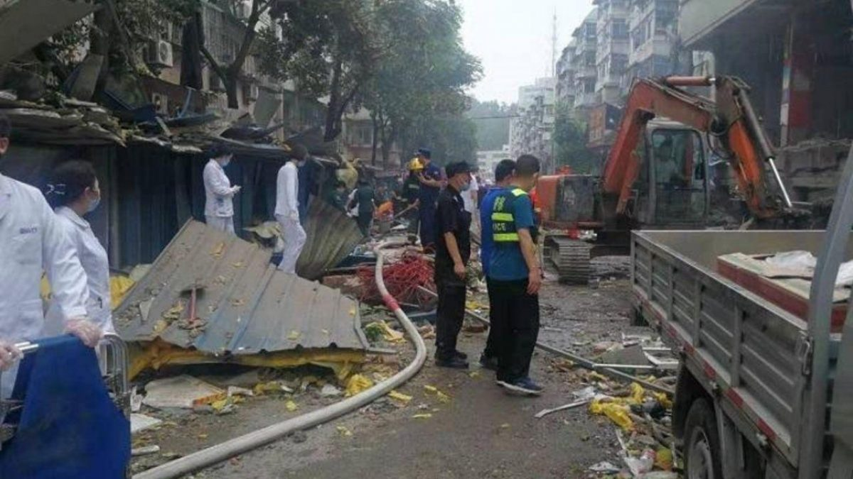 Explosión de gas mató el domingo en China al menos a 25 personas