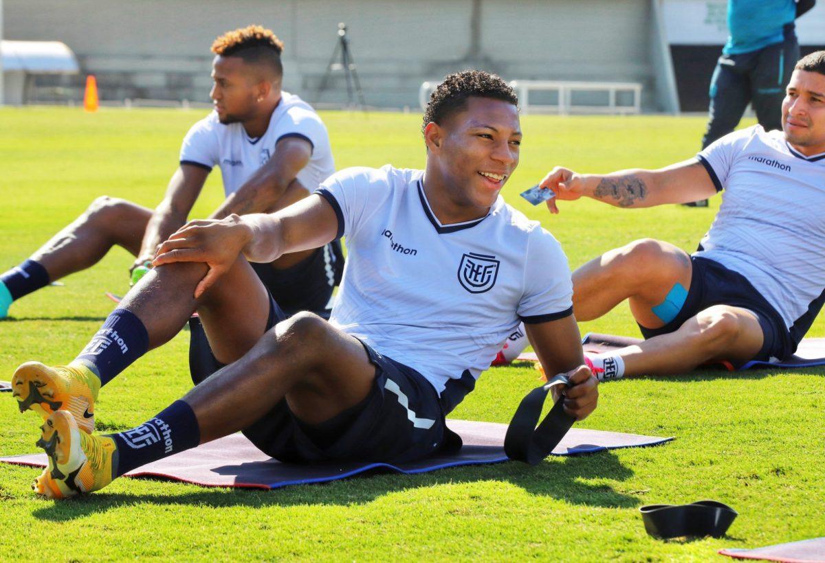 Gonzalo Plata fue parte del entrenamiento de Ecuador