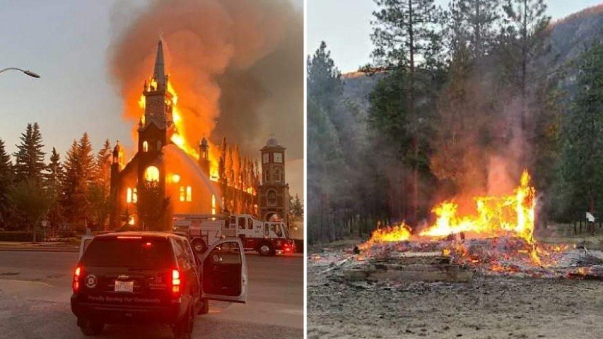 Incendian iglesias en Canadá tras el hallazgo de 750 cuerpos de niños