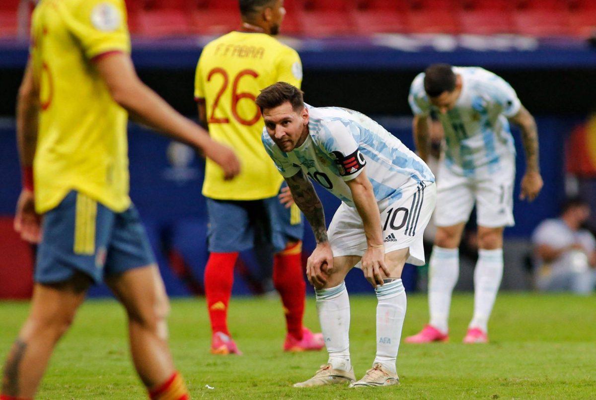 Así quedó el tobillo de Leonel Messi tras la brutal entrada de un colombiano
