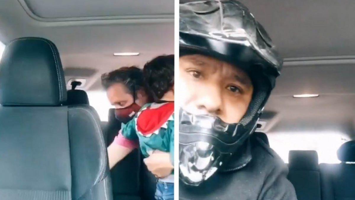 Le robaron su carro mientras hacía video de TikTok con su hijo