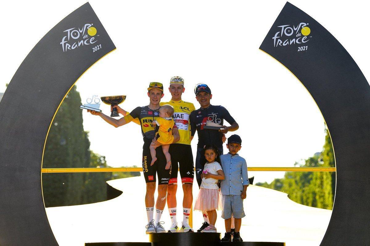 """""""¡Los sueños sí se cumplen, mijines!"""": Richard Carapaz llega al podio del Tour de Francia"""