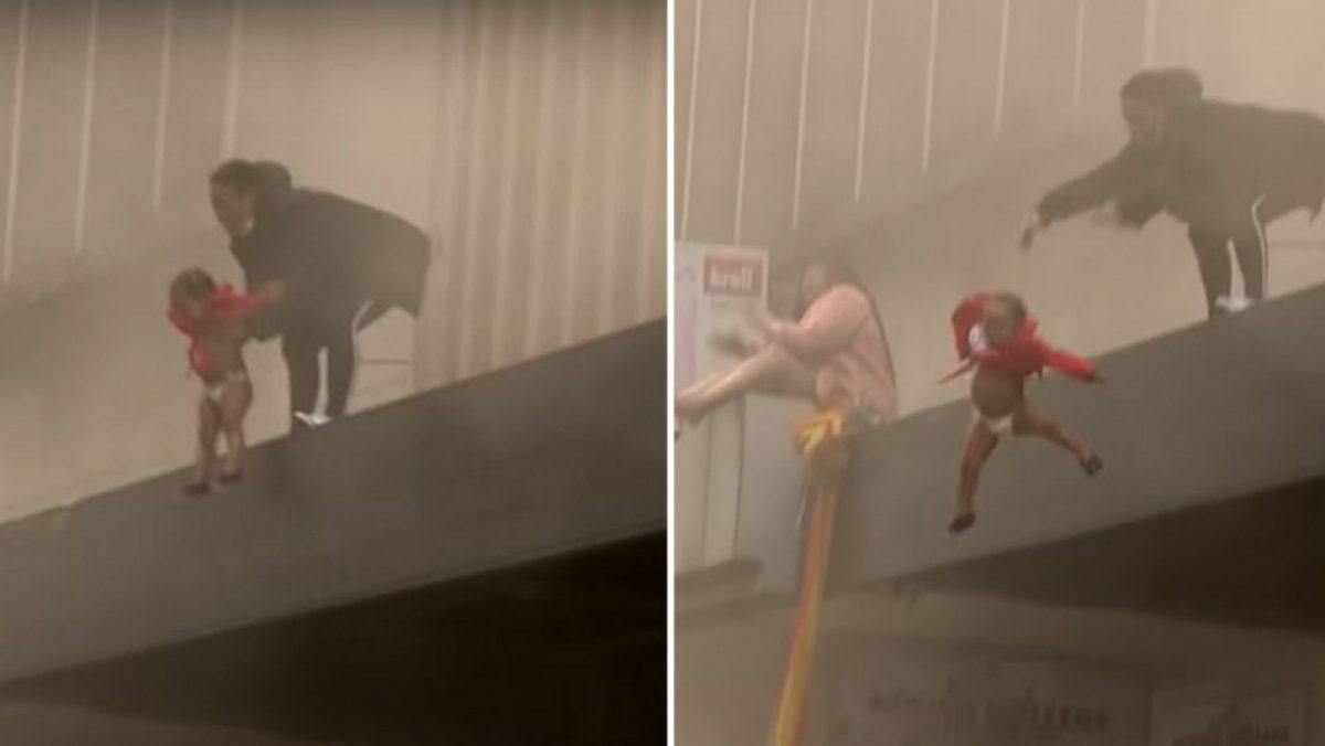 Mujer lanzó a su bebé desde un segundo piso durante un incendio
