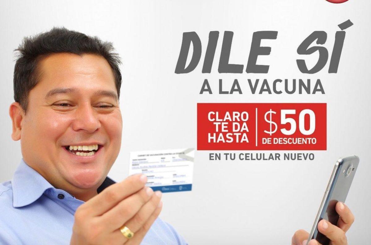 Claro beneficia a los vacunados con un descuento para la compra de un celular