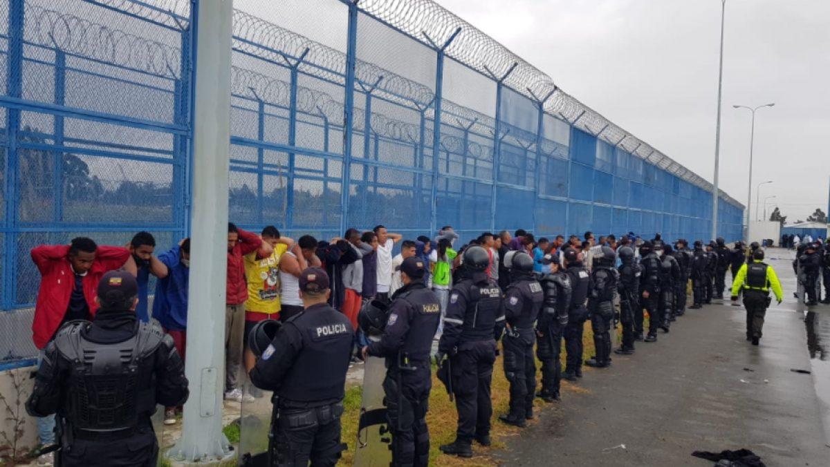 61 PPL recapturados tras la fuga de la cárcel de Cotopaxi.