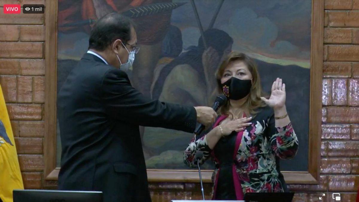 Concejo Metropolitano de Quito eligió a Brith Vaca como vicealcaldesa