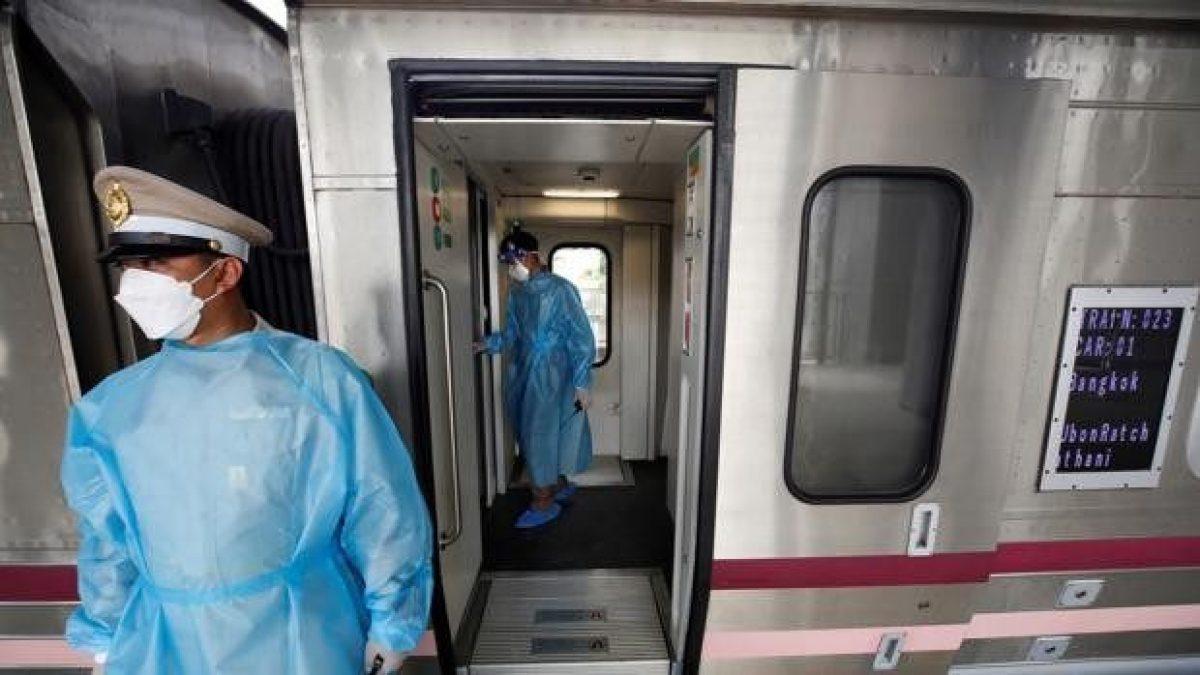 El tren covid: Gobierno Tailandia crea campaña para evitar incrementos de contagios