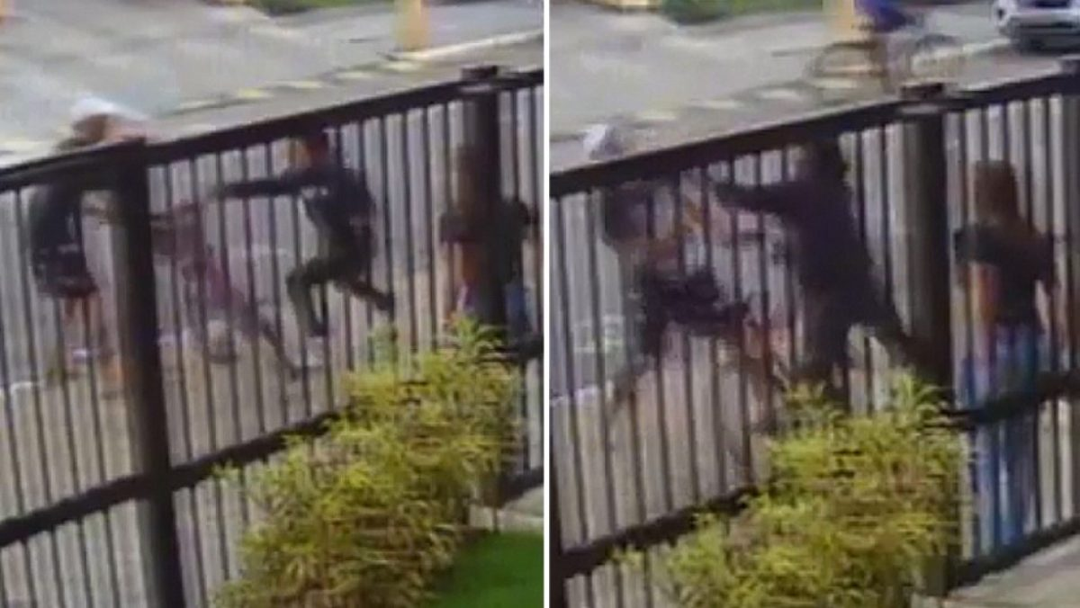 Joven defiende a su novia de un asalto en Brasil