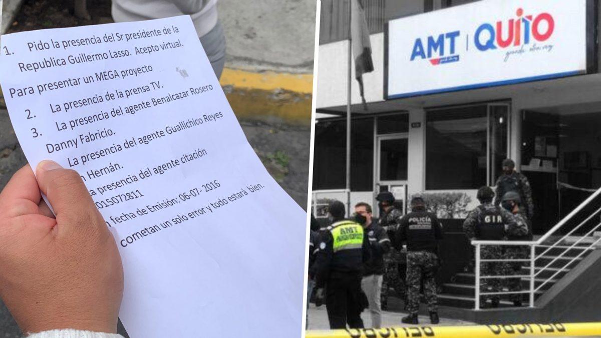 Quito: sujeto detenido ante amenaza de bomba en la AMT