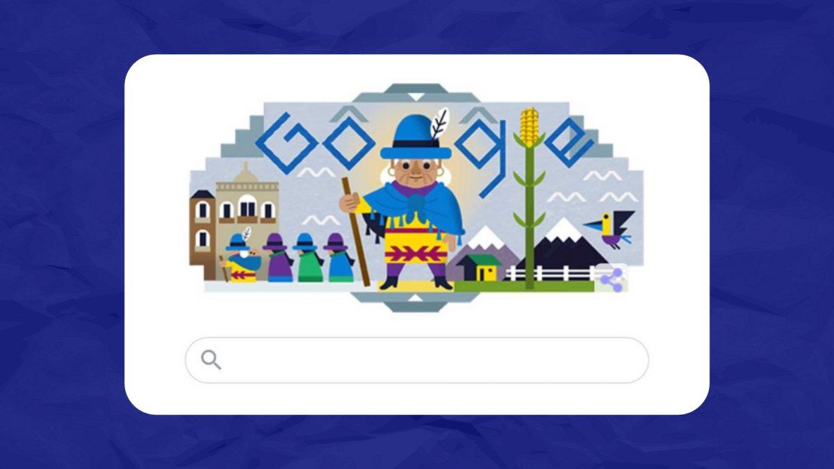 Google rinde homenaje a Tránsito Amaguaña en su doodle