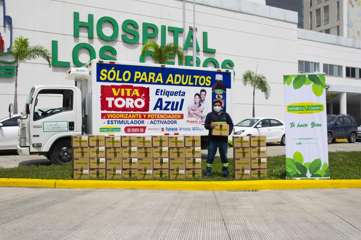 Nature's Garden entregó importante Donación al  Hospital IESS Ceibos en Guayaquil