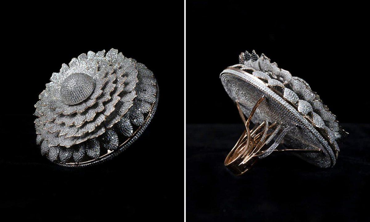 VIDEO | Así luce un anillo con más de 12.000 diamantes incrustados