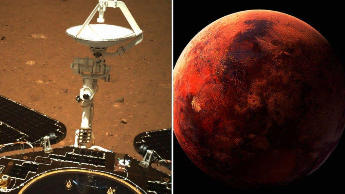 El robot chino Zhurong envía sus primeras imágenes desde Marte