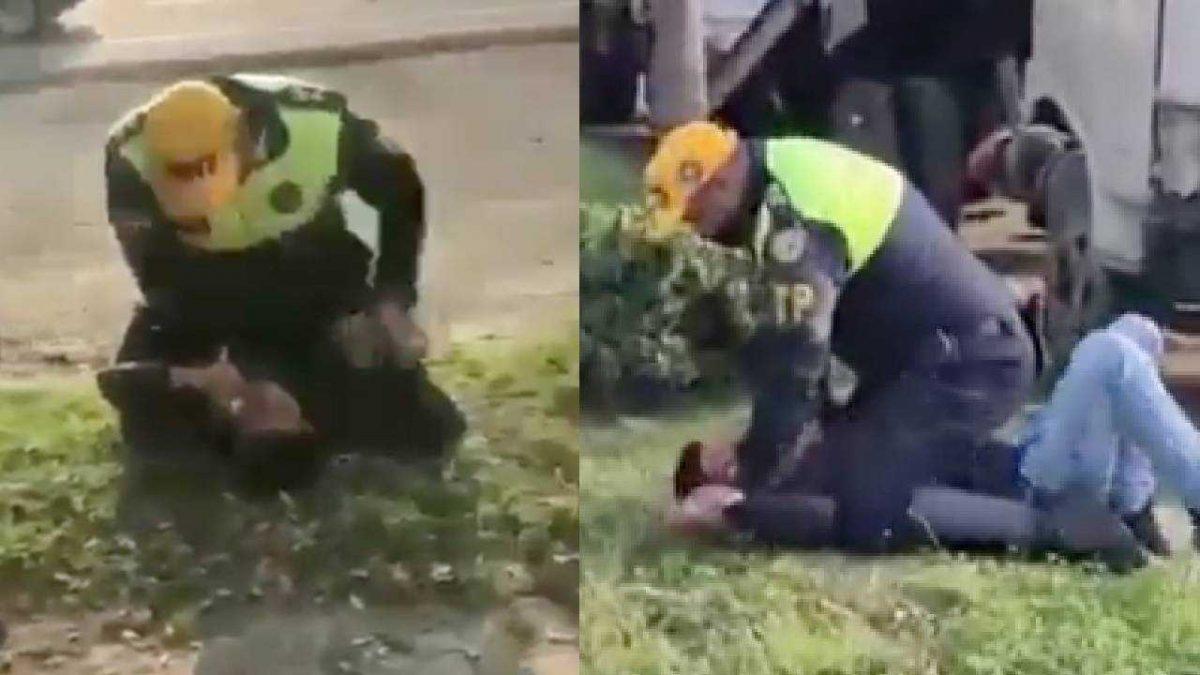 Video muestra a un agente de la CTE cuando neutraliza a un ciudadano en Samborondón