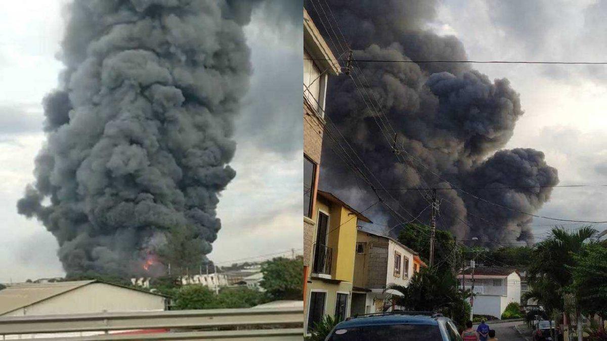 ¡ÚLTIMA HORA! Gran incendio se registró en el norte de Guayaquil