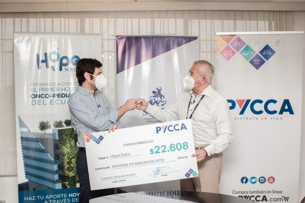 SOLCA Guayaquil recibe una donación de almacenes Pycca