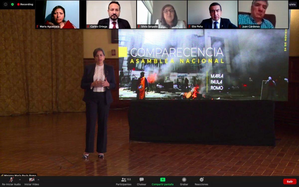¡ÚLTIMA HORA! María Paula Romo censurada como ministra de Gobierno