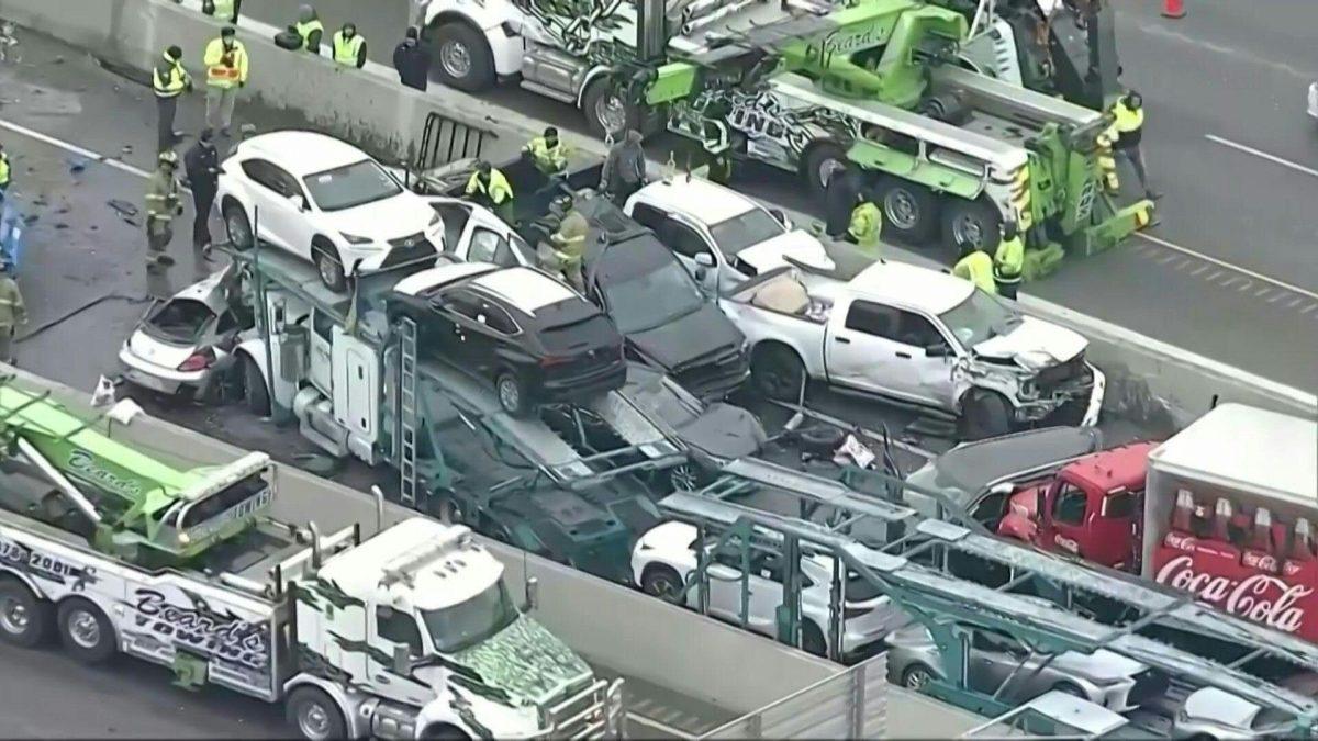 VIDEO   Gigantesco accidente en Texas: se chocaron 100 autos