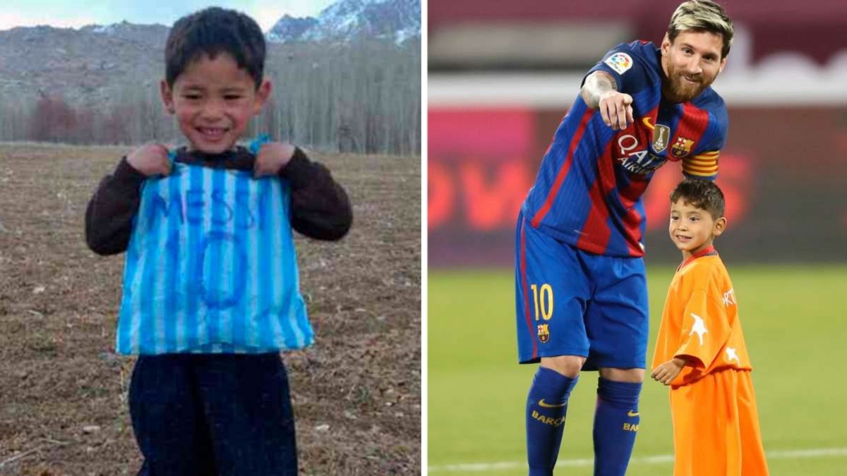 """""""Sálvenme"""": Niño afgano hace llamado a Messi para poder huir de los talibanes"""