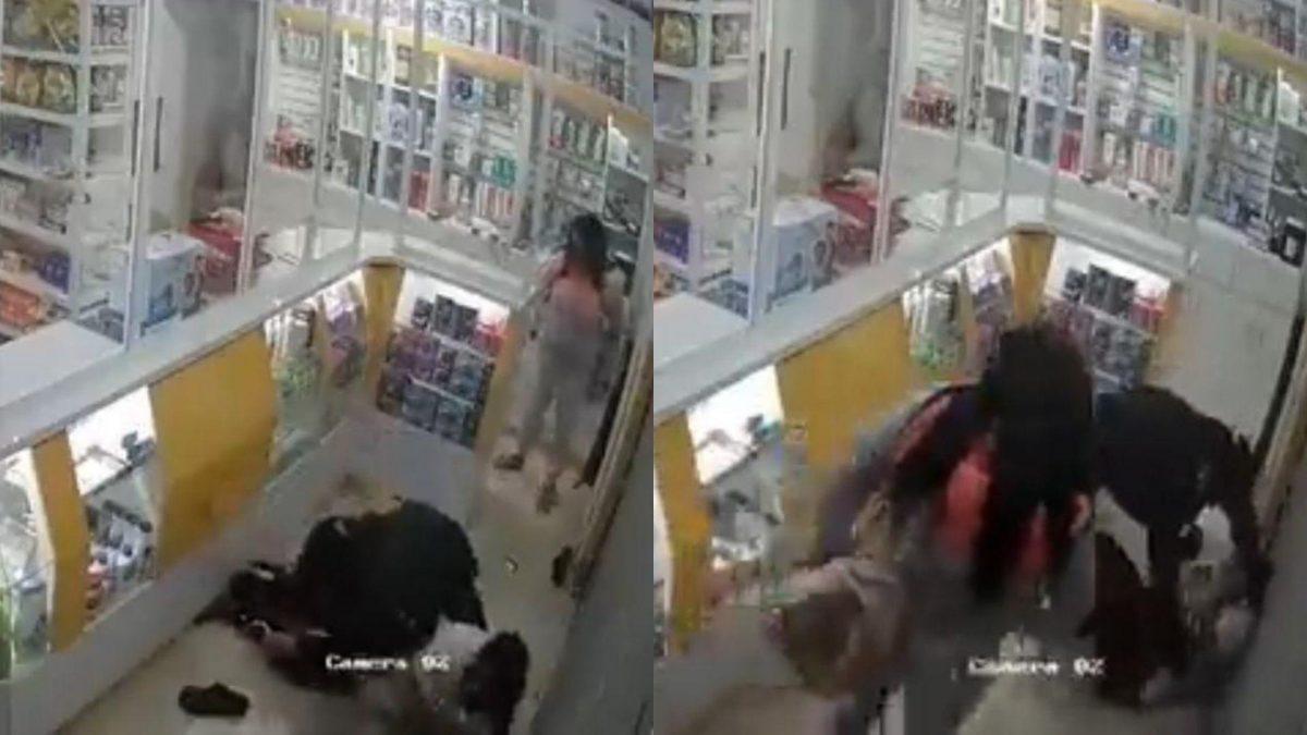 Guayaquil: Pareja de asaltantes golpeó y ató a empleada de una farmacia