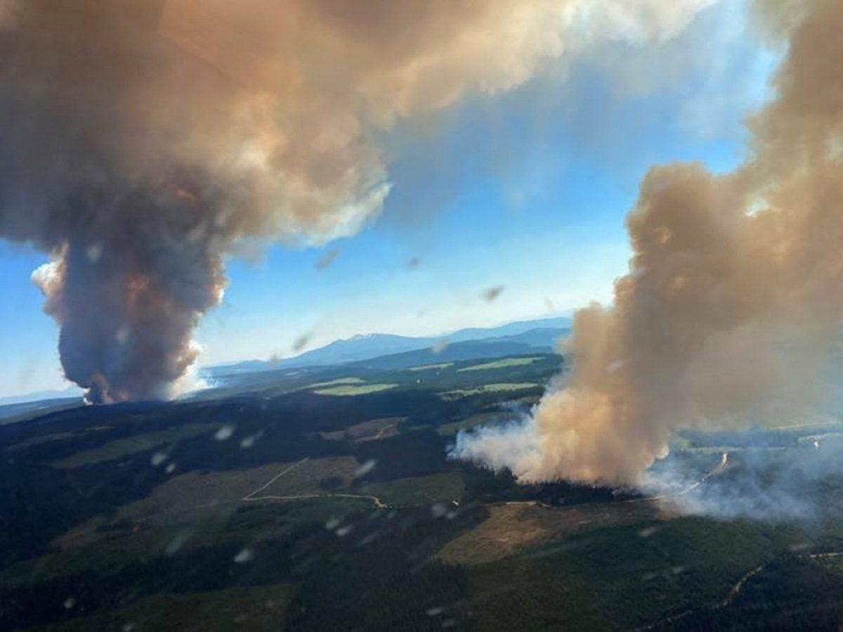 Los incendios forestales calientan más el oeste de Canadá y California