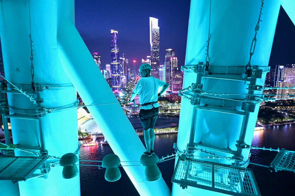 Turismo en China: escalar una torre de 57 pisos