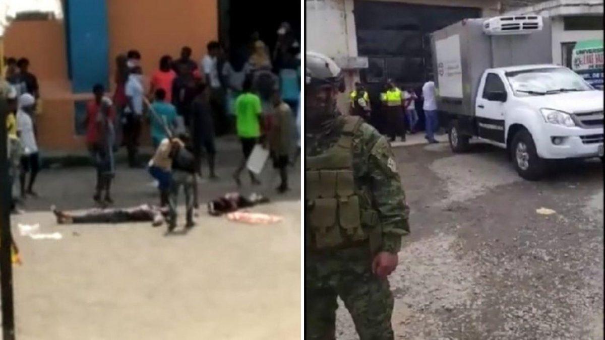 Disturbios dejan tres muertos y siete heridos dentro de una cárcel de Esmeraldas